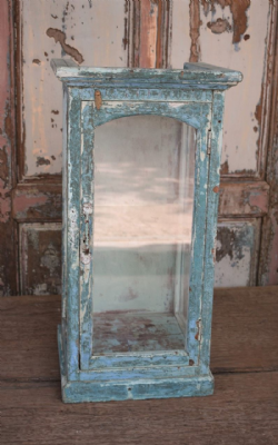 Glass Showcase Wall Cabinet, Vintage <b>SOLD<b>
